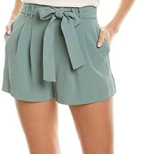 PARKER High Waisted Crepe Shorts Greenbria Size L